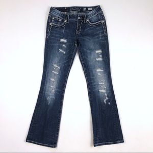 [Miss Me] Boot Cut Bling Booty Dark Wash Jeans 27